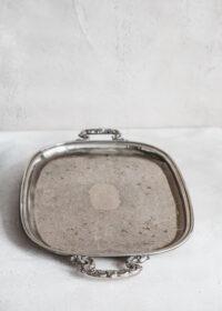 Tuotekuva - Kookas, kuvioitu metallitarjotin
