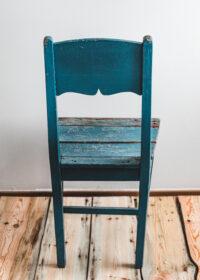 Tuotekuva - Sininen antiikinen tuoli